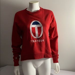 Oversized TNA Cropped Hoodie